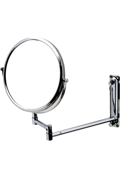 Mafsallı Makyaj Aynası / Krom