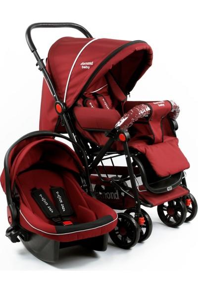 Diamond Baby P 101 Çift Yönlü Travel Sistem Pusetli Bebek Arabası - Bordo