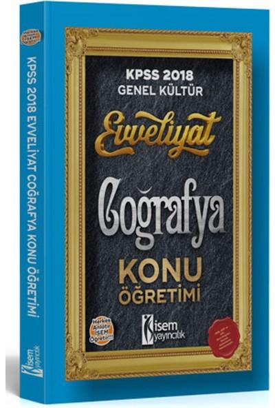 İsem Yayıncılık Evveliyat Kpss Coğrafya Konu Anlatımlı 2018