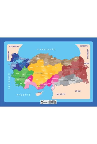 Puzz (25x35 cm) 99 Parça Çerçeveli Türkiye Yapboz