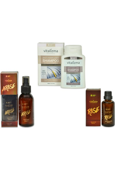 Vitalizma Arise/Rise ve Anti Hair Loss ( Kremsiz ) 3'lü Bakım Seti