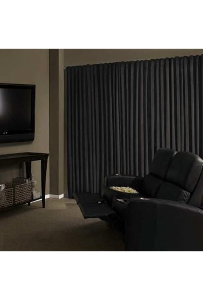 Brillant Blackout Karartma Güneşlik Perde Pilesiz V - 6 Koyu Gri - 150x260 cm