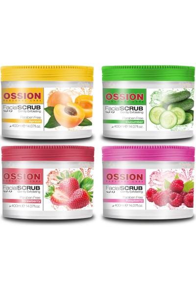 Ossion Face Scrub Peeling El Yüz Peelingi Raspberry 400Ml