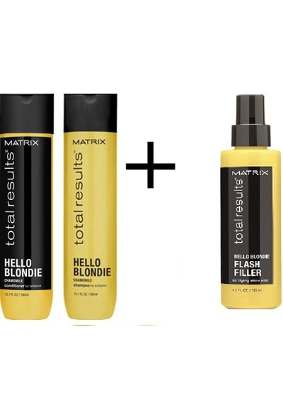 Matrix Total Results Hello Blond Sarı Saçlar 3 Lü Set