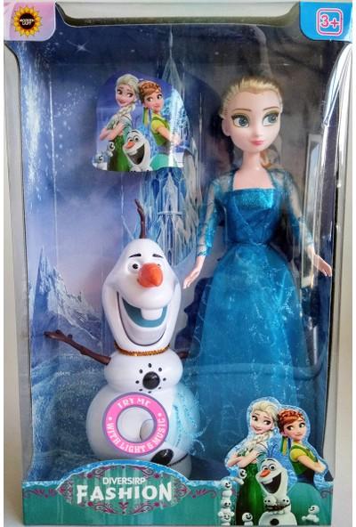 Aydın Oyuncak Karlar Ülkesi Elsa-Olaf ve Anna Olaf Sesli Işıklı Kız Oyuncakları