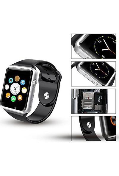 OEM Silver Black Akıllı Saat Siyah-Silver