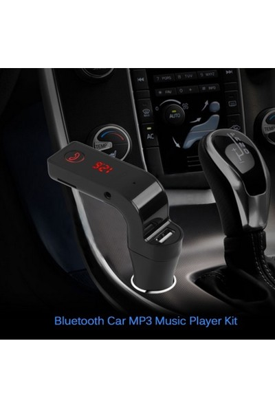 Earldom Araç Mp3 Fm Transmitter Bluetooth Araç Kiti Usb Girişli Çakmaklık SD Kart - Siyah