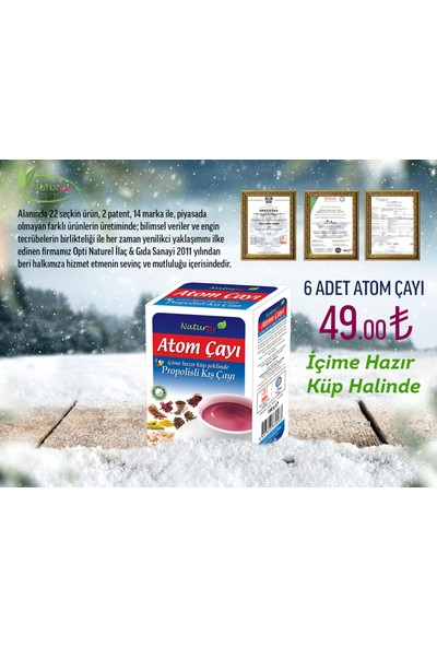 Naturpy 6 Adet Atom Çayı