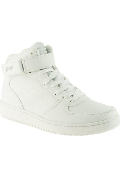 Jump 16308 Casual Tek Cırt Boğazlı Beyaz Kadın Spor Ayakkabı