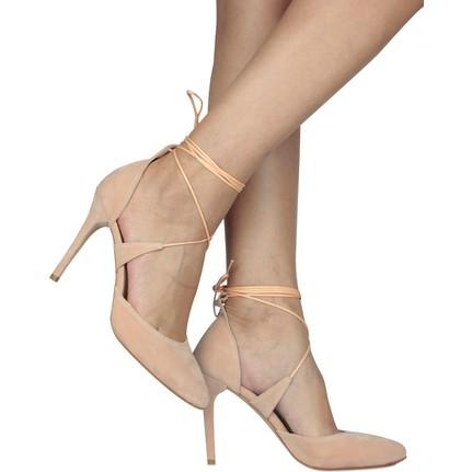 Loggalin 580130 031 727  Pudra    Kadın Stiletto Ayakkabı