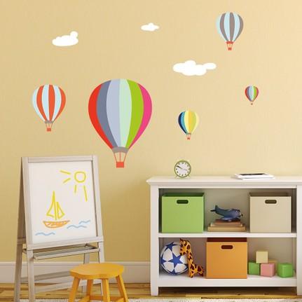 Dekorloft Renkli Uçan Balonlar çocuk Odası Duvar Sticker Fiyatı
