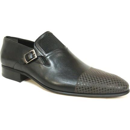 Ekici 7871 Siyah Bağcıksız Erkek Ayakkabı  Ücretsiz Kargo
