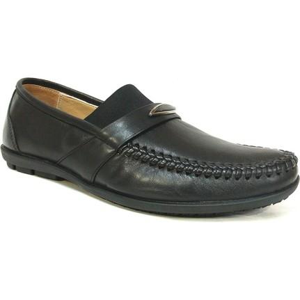 Pabuç 165 Siyah Bağcıksız Erkek Ayakkabı