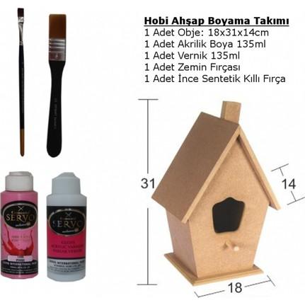 Hobi Ahşap Boyama Objesi Kuş Evi L Başlangıç Seti No1 Fiyatı