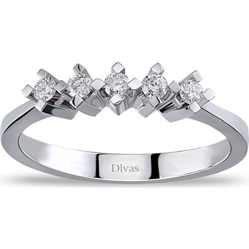 Divas Love 0,15 Karat Pırlanta 5 Taş Yüzük (Altın)