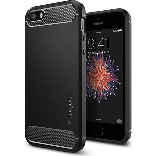 Spigen Apple iPhone Se/5S/5 Kılıf Rugged Armor Black