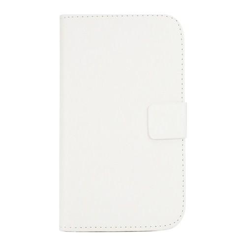 Microsonic Cüzdanlı Standlı Deri Samsung Galaxy Note 4 Kılıf Beyaz