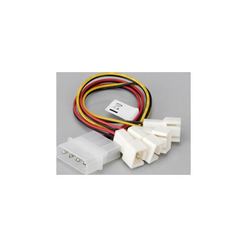 Akasa CB001 Molex/4x3-Pin Hız Düşürme Özellikli Fan Çoklayıcı (AK-CB001)