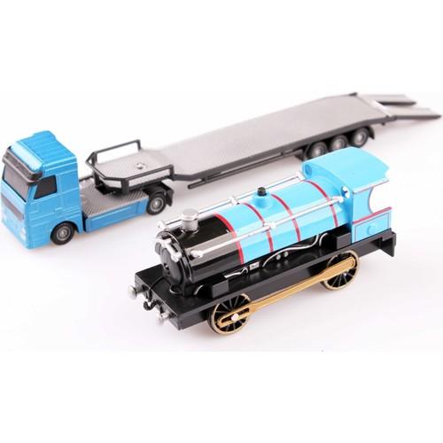 Nani Toys Ağar Motor Lokomotif ve Taşıyıcı 1/60 Diecast Tır Seti
