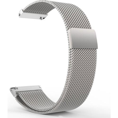 Case 4u Samsung Galaxy Gear S2 Metal Kayış Milano Loop Gümüş