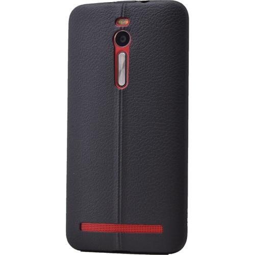 Case 4U Asus Zenfone 2 Desenli Silikon Kılıf Siyah