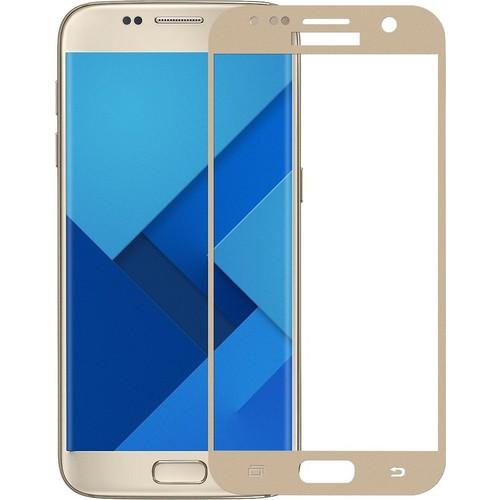 Case 4U Samsung Galaxy S7 3D Kavisli Cam Ekran Koruyucu Altın