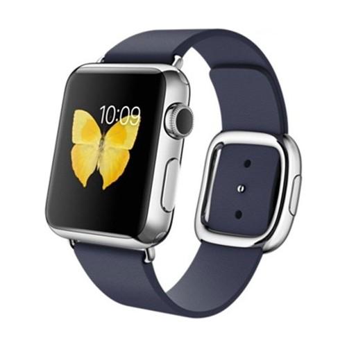 Case 4U Apple Watch 38 mm Klasik Tokalı Lacivert Kayış