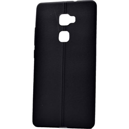 Case 4U Huawei Mate S Desenli Silikon Kılıf Siyah