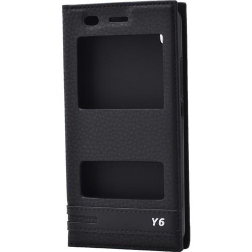 Case 4U Huawei Y6 Pencereli Kılıf Siyah