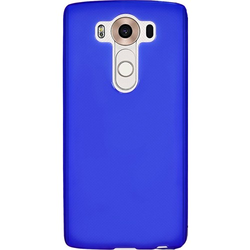 Case 4U Lg V10 Ultra İnce Silikon Kılıf Mavi
