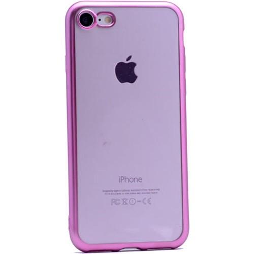 Case 4U Apple İphone 6 Lazer Kaplama Silikon Kılıf Pembe