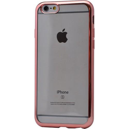 Case 4U Apple İphone 6S Lazer Kaplama Silikon Kılıf Rose Gold