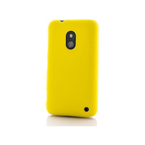 Case 4U Nokia Lumia 620 Rubber Sarı Arka Kapak