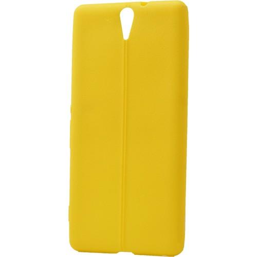 Case 4U Sony Xperia C5 Ultra Desenli Silikon Kılıf Sarı