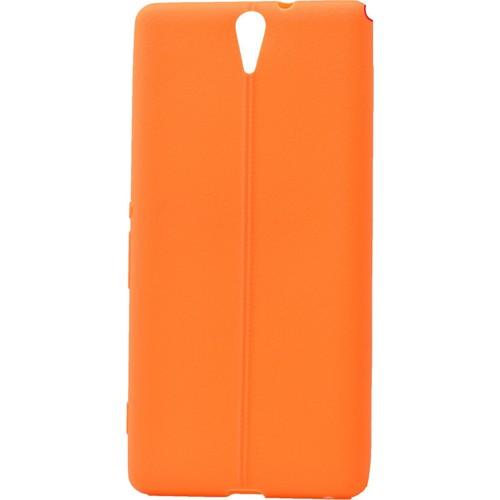 Case 4U Sony Xperia C5 Ultra Desenli Silikon Kılıf Turuncu