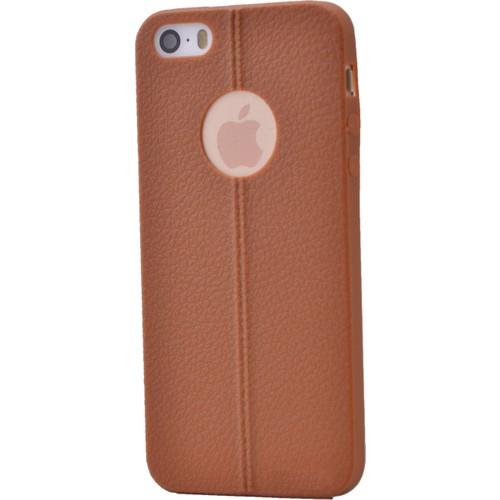 Case 4U Apple İphone 5S Desenli Silikon Kılıf Kahve