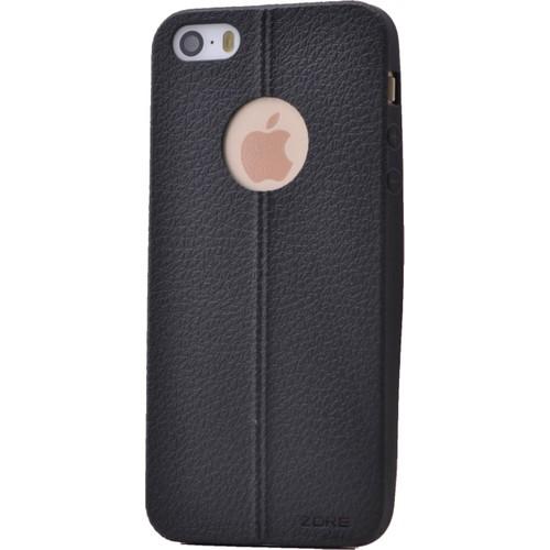 Case 4U Apple İphone 5S Desenli Silikon Kılıf Siyah