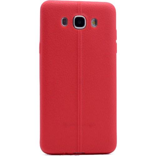 Case 4U Samsung Galaxy J7 Desenli Silikon Kılıf Kırmızı