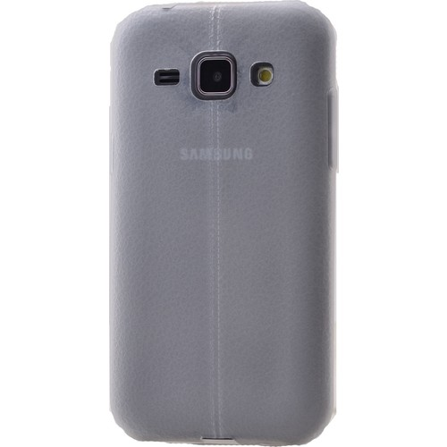 Case 4U Samsung Galaxy J1 Desenli Silikon Kılıf Beyaz