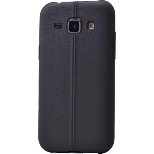 Case 4U Samsung Galaxy J1 Desenli Silikon Kılıf Siyah