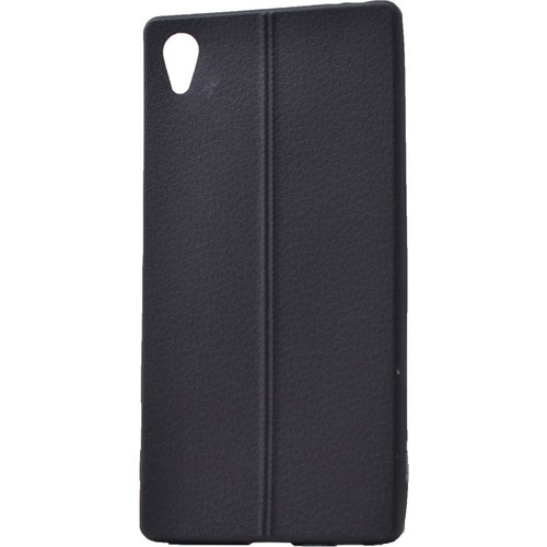 Case 4U Sony Xperia Z5 Desenli Silikon Kılıf Siyah