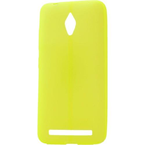 Case 4U Asus Zenfone Go Desenli Silikon Kılıf Sarı