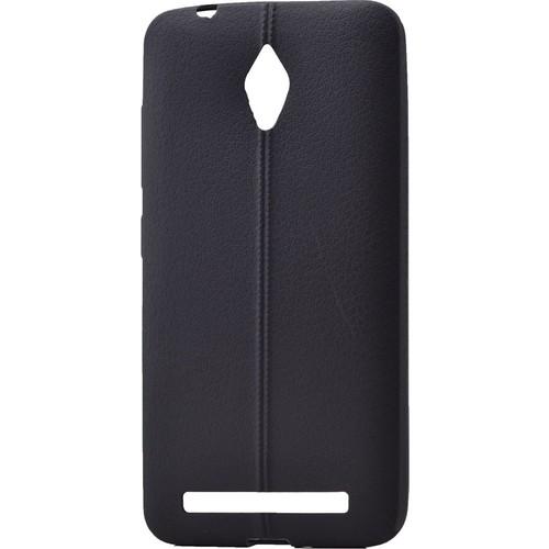 Case 4U Asus Zenfone Go Desenli Silikon Kılıf Siyah