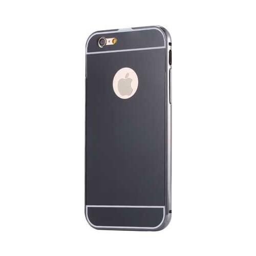 Case 4U Apple İphone 6S Aynalı Bumper Kapak Siyah