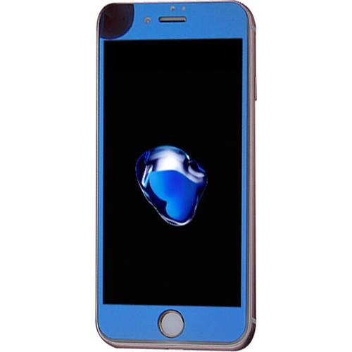 Case 4U Apple İphone 6S Aynalı Kırılmaz Ekran Koruyucu Mavi