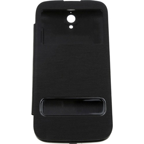 Case 4U Huawei G610 Pencereli Flip Cover Siyah
