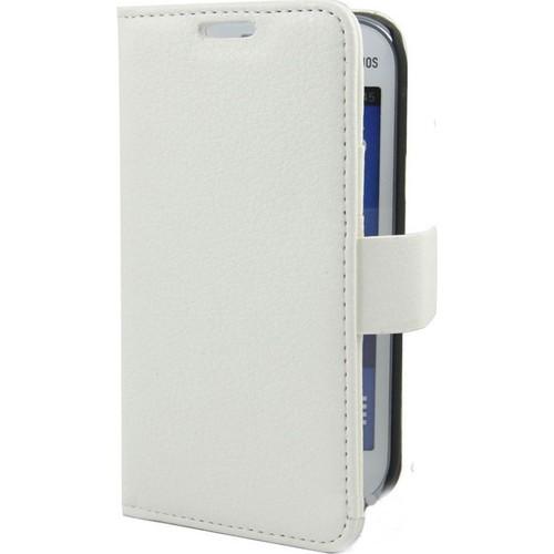 Case 4U Samsung S7390 Galaxy Trend Lite Cüzdan Kılıf Beyaz