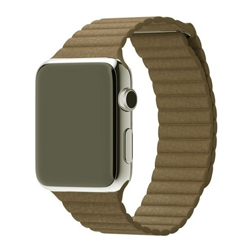 Case 4U Apple Watch 42 Mm Deri Loop Kayış Kahve