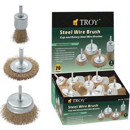 Troy 27700 Pimli Tel Fırça Seti 20 Parça