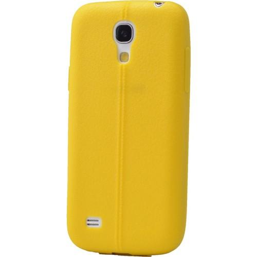 Case 4U Samsung Galaxy S4 Mini Desenli Silikon Kılıf Sarı